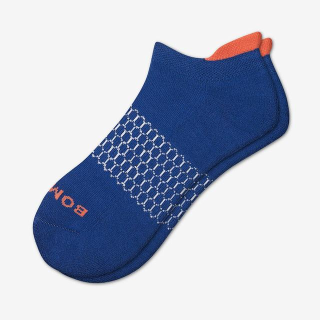 neptune-blue Men's Solid Neon Tipping Ankle Socks