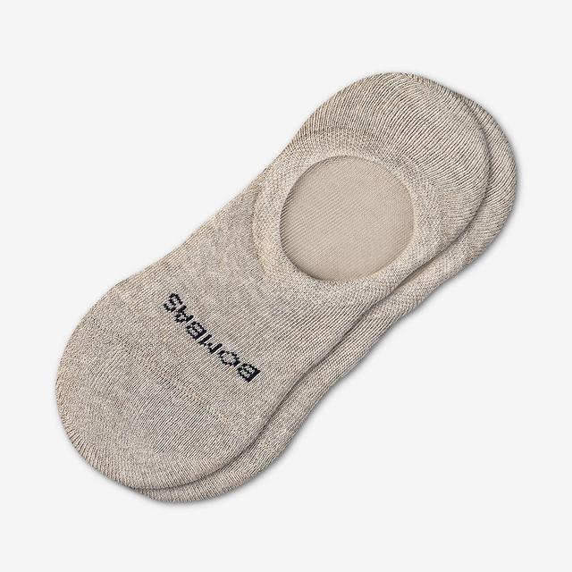 oatmeal-heather Men's Cushioned No Show Socks