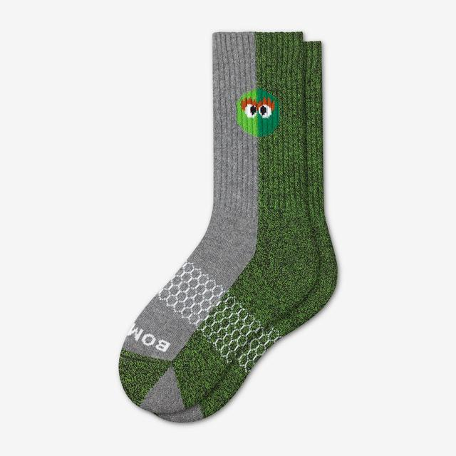 oscar-the-grouch Youth Sesame Street Oscar the Grouch Colorblock Socks