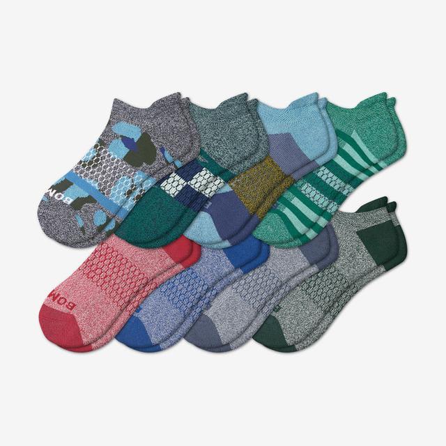 patchwork-mix Men's Ankle Sock 8-Pack