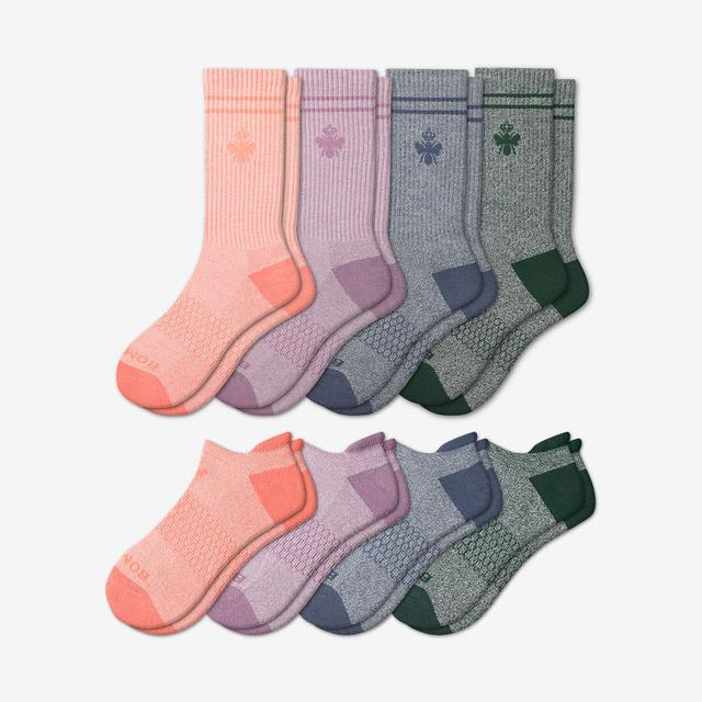 pink-green-blue-mix Women's Calf & Ankle Sock 8-Pack