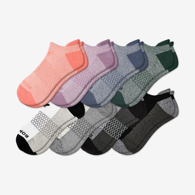 pink-green-blue-mix Women's Ankle Sock 8-Pack