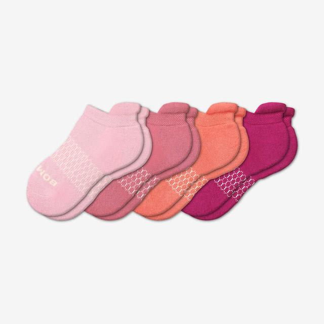 pink-mix Youth Solids Ankle Sock 4-Pack