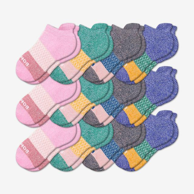 pink-purple-orange Youth Ankle 12-Pack