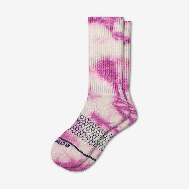pink-white Women's Merino Wool Calf Socks