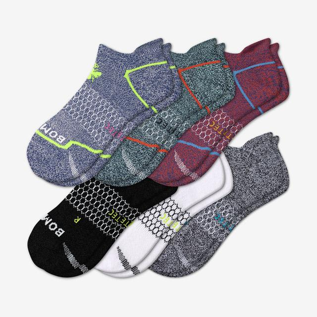 red-blue-mix Men's All-Purpose Performance Ankle Sock 6-Pack