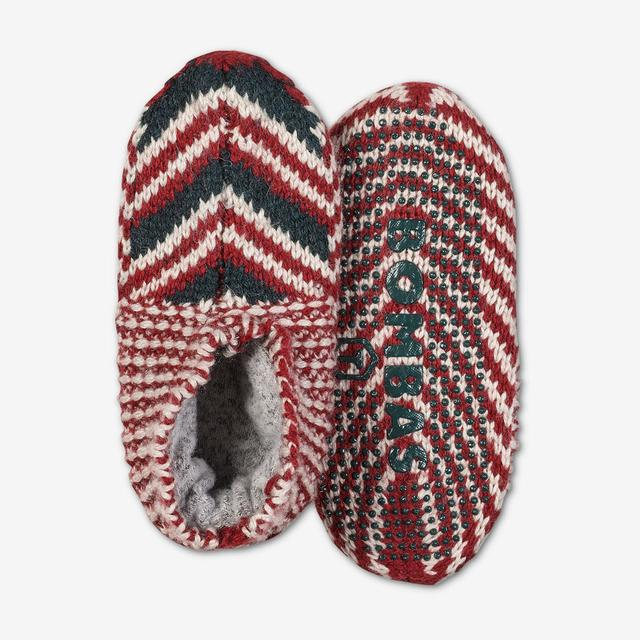 red-multi Toddler Gripper Slipper