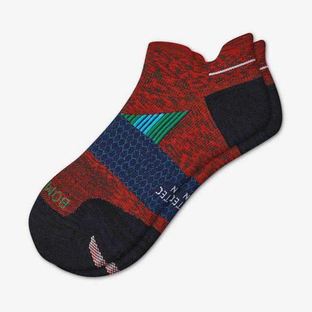 red-sky Men's Performance Running Ankle Socks