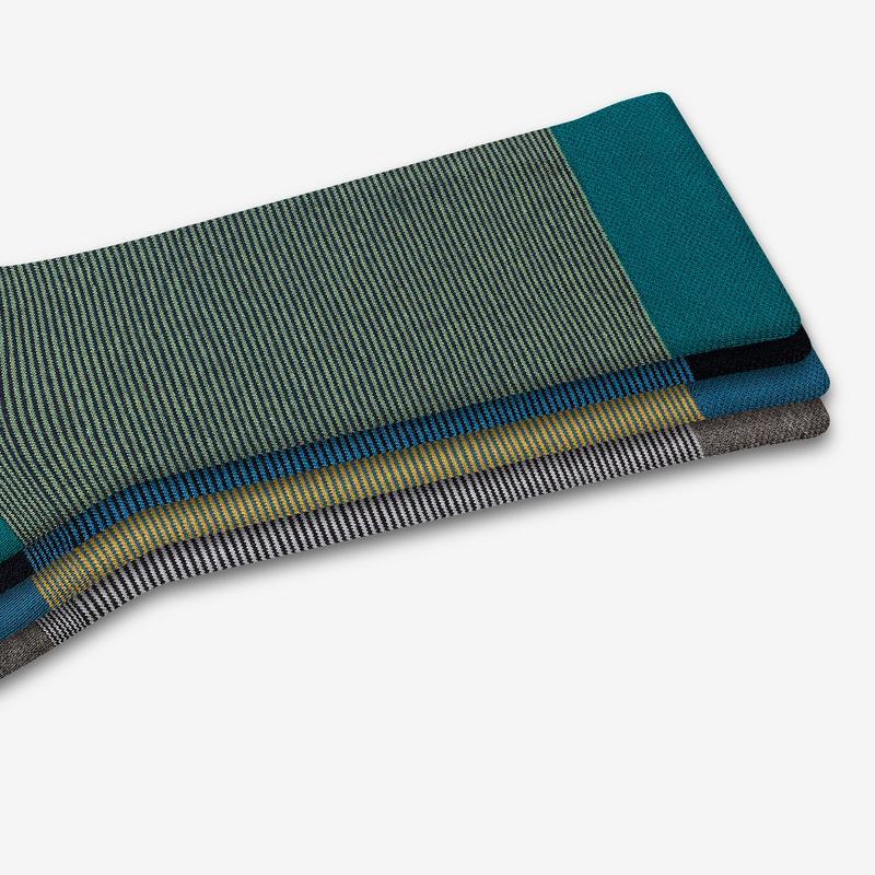 Men's Micro Stripe Over The Calf Dress Sock 4-Pack
