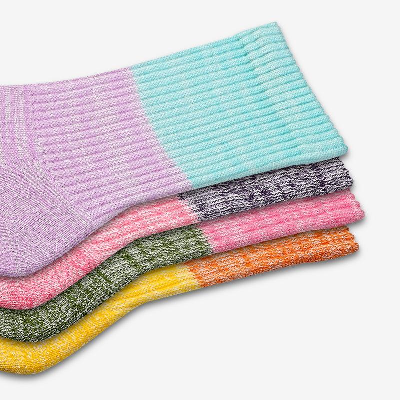 Youth Tri-Block Calf Sock 4-Pack