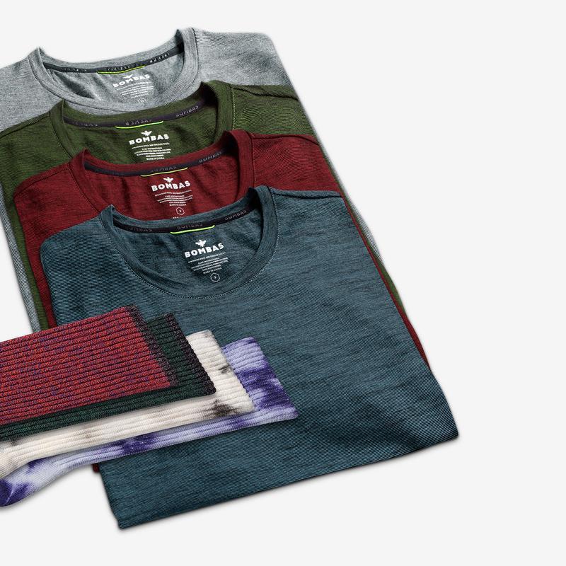 Men's Merino Crew Neck T-Shirt & Calf 8-Pack