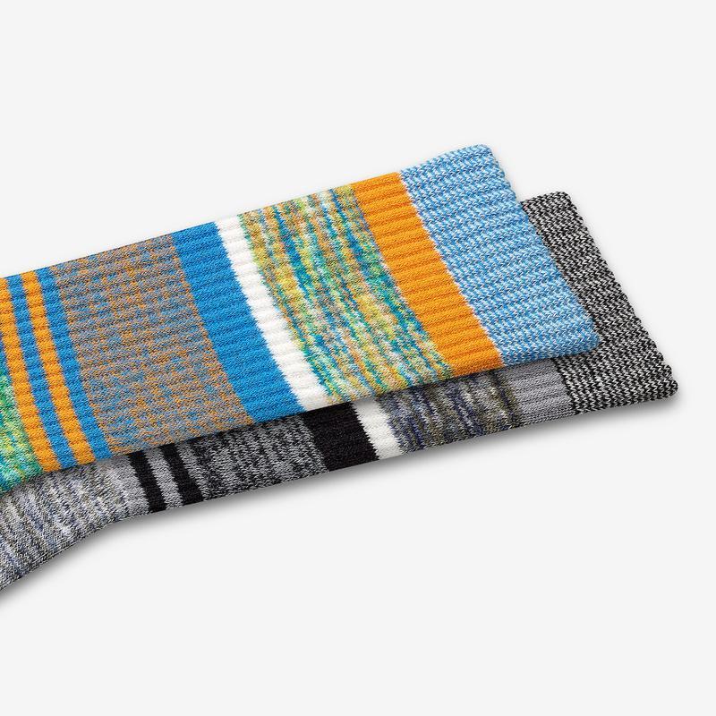 Men's Brush Stripe Calf Socks