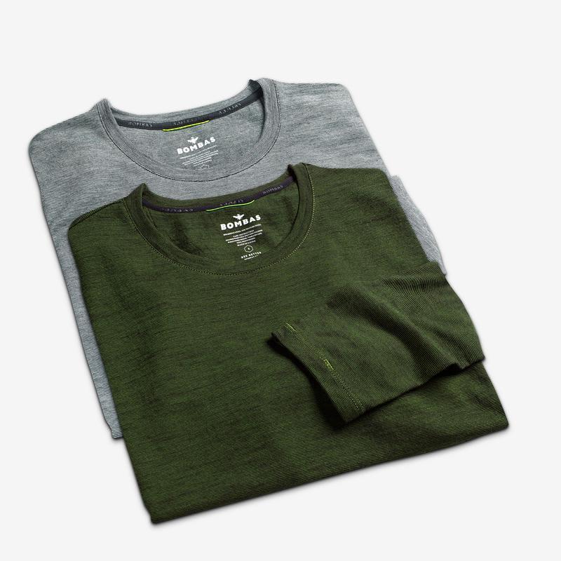 Men's Merino Crew Neck Long Sleeve T-Shirt