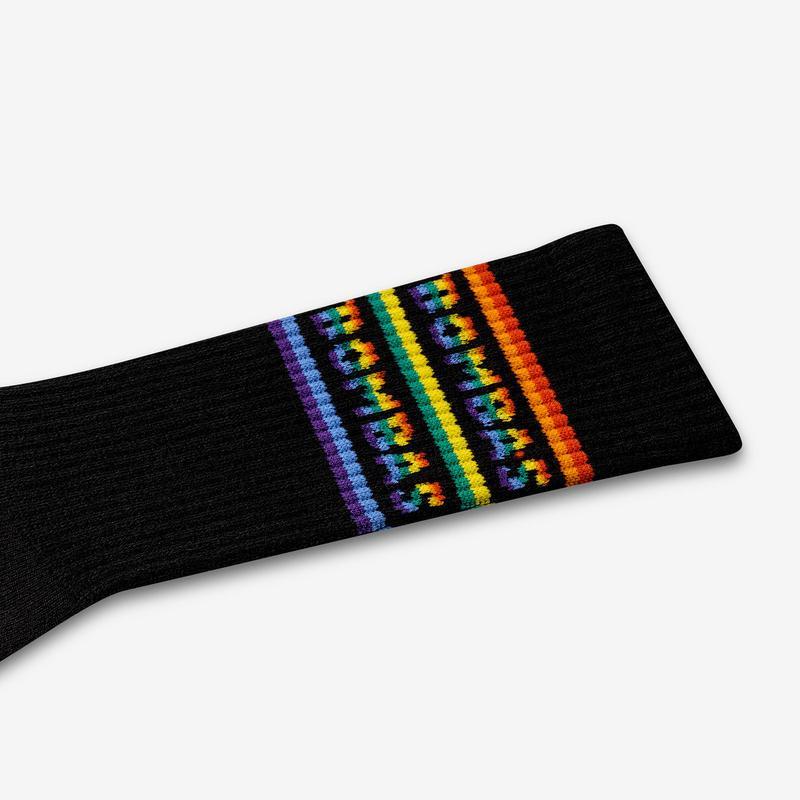 Double Rainbow Calf Socks