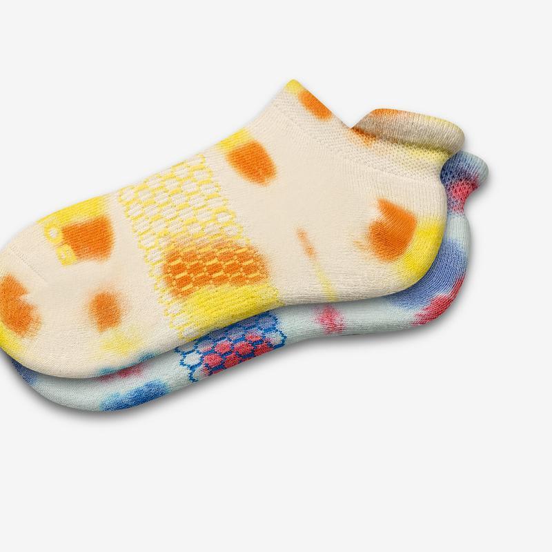 Men's Color Swatch Tie Dye Ankle Socks