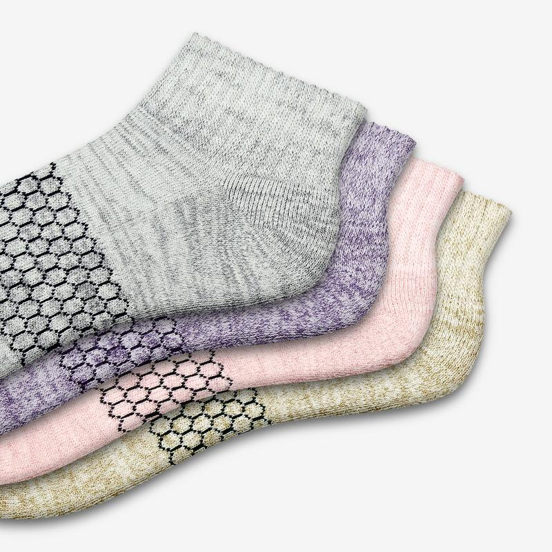 Women's Sparkle Quarter Sock 4-Pack
