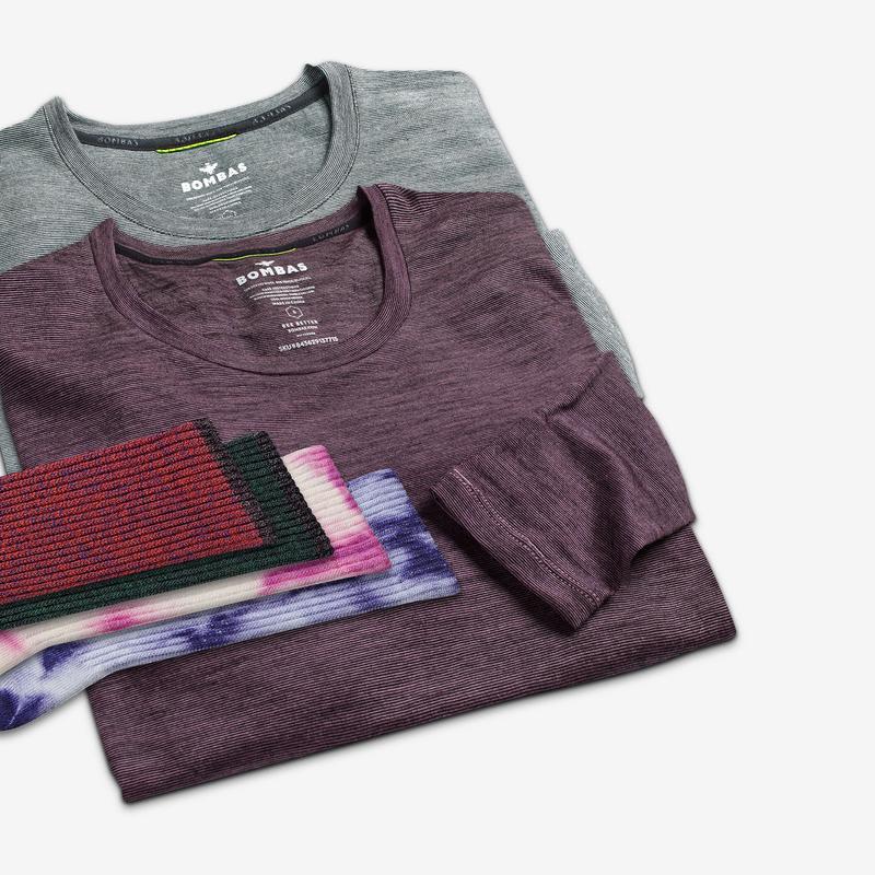 Women's Merino Crew Neck Long Sleeve T-Shirt & Calf Sock 6-Pack