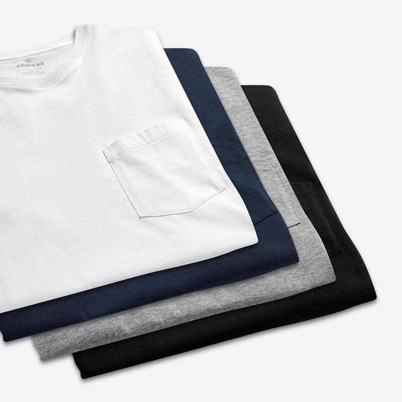 Men's Pima Cotton Pocket Crew Neck T-Shirt 3-Pack