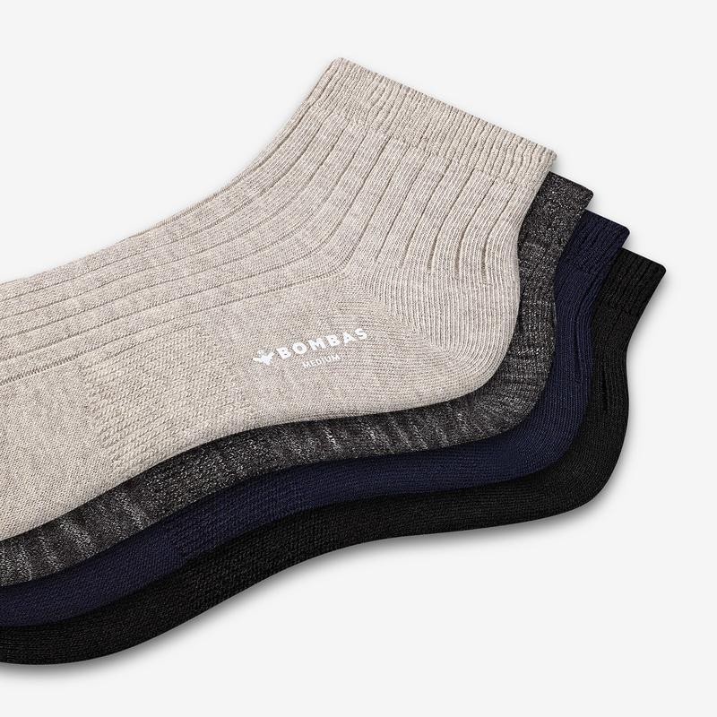 Women's Lightweight Ribbed Quarter Sock 4-Pack