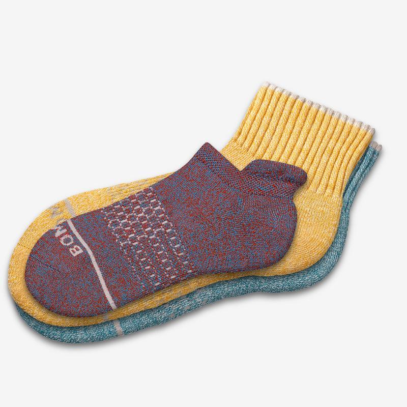 Men's Merino Wool Quarter & Ankle Sock 8-Pack