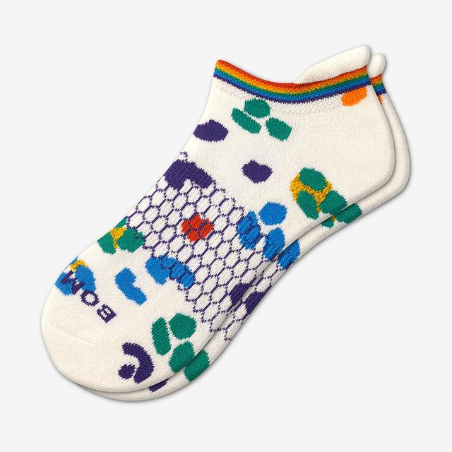 soft-white-multi Leopard Pride Ankle Socks