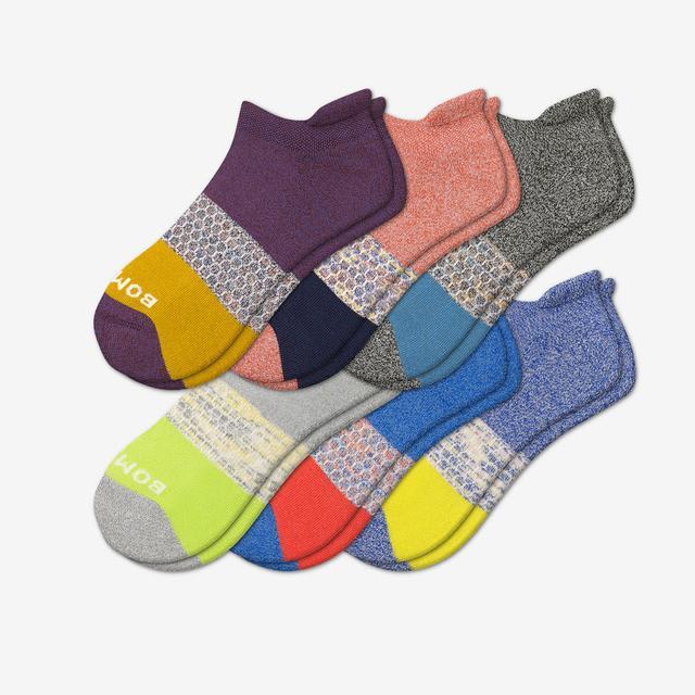 space-dye-marl-mix Men's Tri-Block Marl Ankle Sock 6-Pack