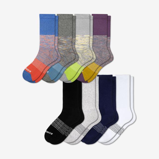 space-triblock Men's Calf Sock 8-Pack