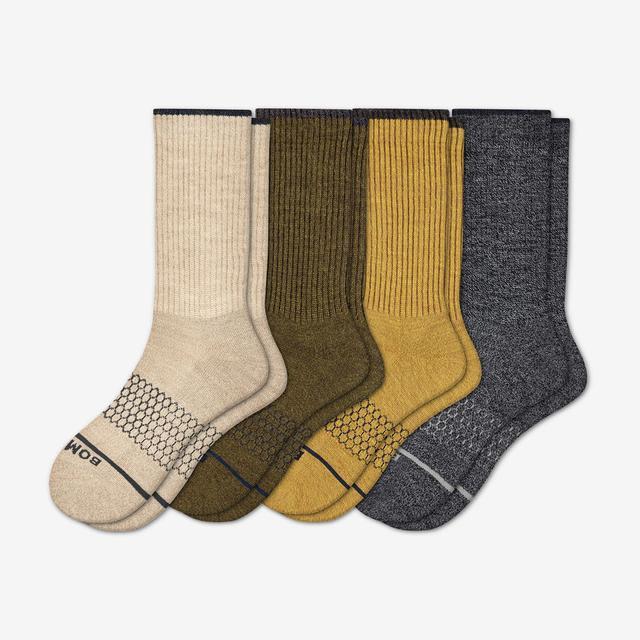 spring-mix Men's Merino Wool Calf Sock 4-Pack