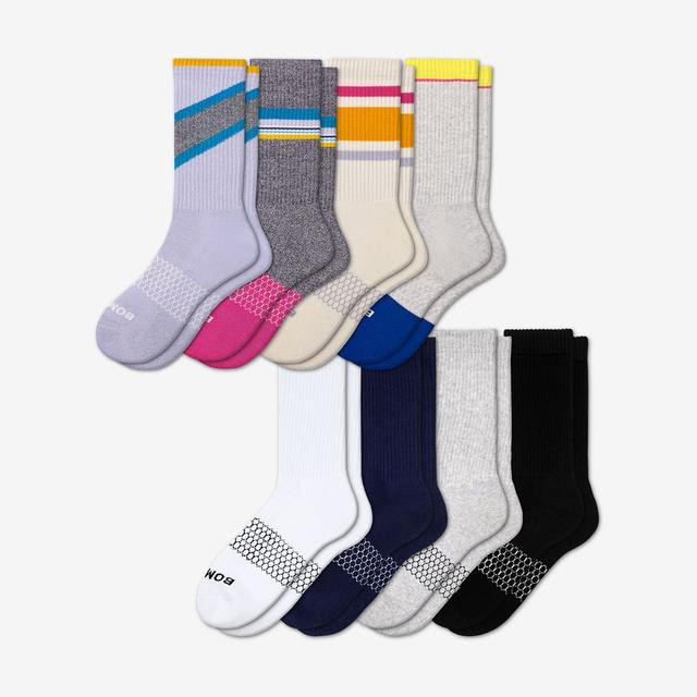 stripe Women's Calf Sock 8-Pack