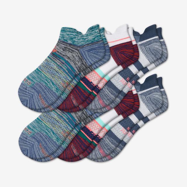 stripes Men's Performance Running Ankle Sock 6-Pack