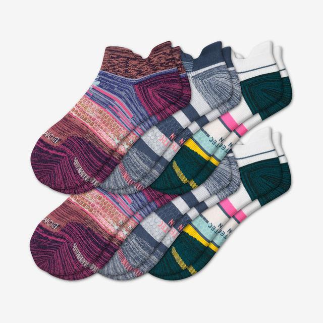 stripes Women's Performance Running Ankle Sock 6-Pack