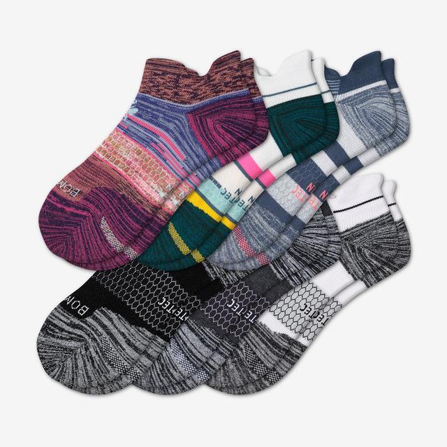 stripes-mix Women's Performance Running Ankle Sock 6-Pack