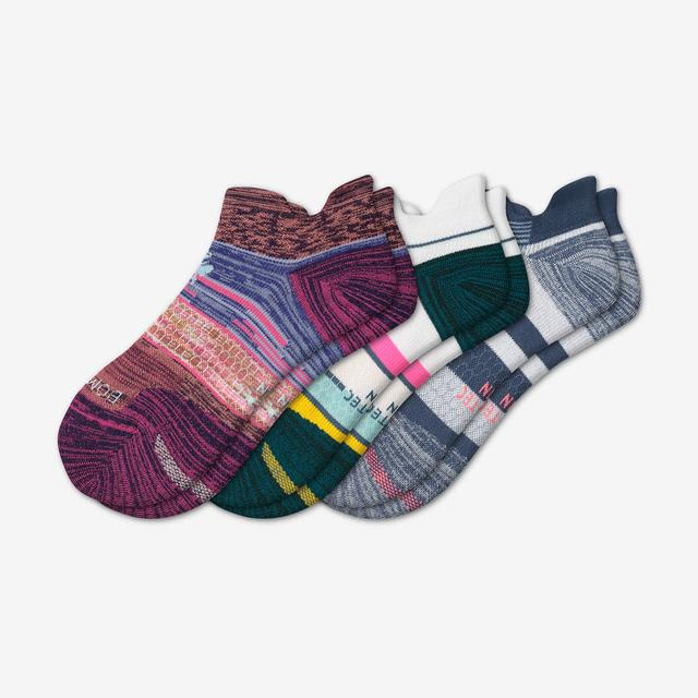 stripes-mix Women's Performance Running Ankle Sock 3-Pack