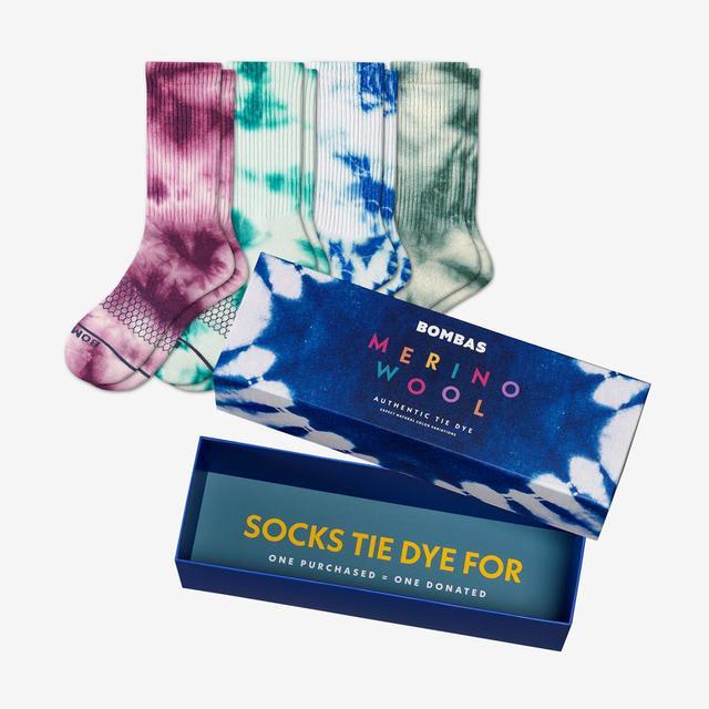 tie-dye-mix Men's Merino Tie Dye Gift Box