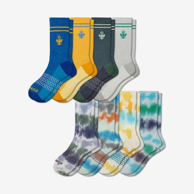 tie-dye-originals-mix Men's Calf Sock 8-Pack