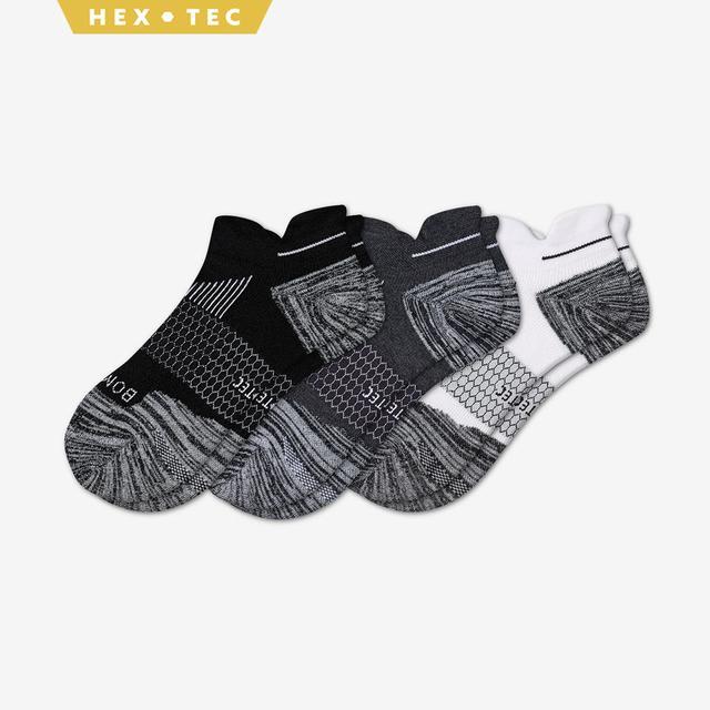 white-charcoal-black Women's Performance Running Ankle Sock 3-Pack