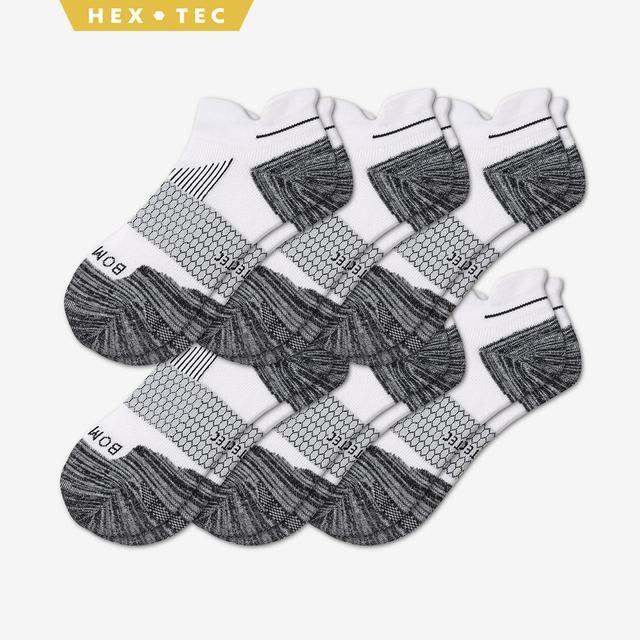 white Men's Performance Running Ankle Sock 6-Pack