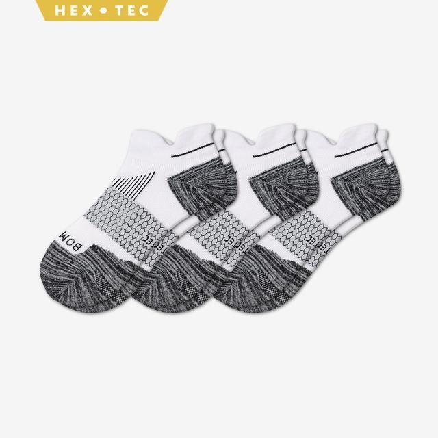 white Women's Performance Running Ankle Sock 3-Pack
