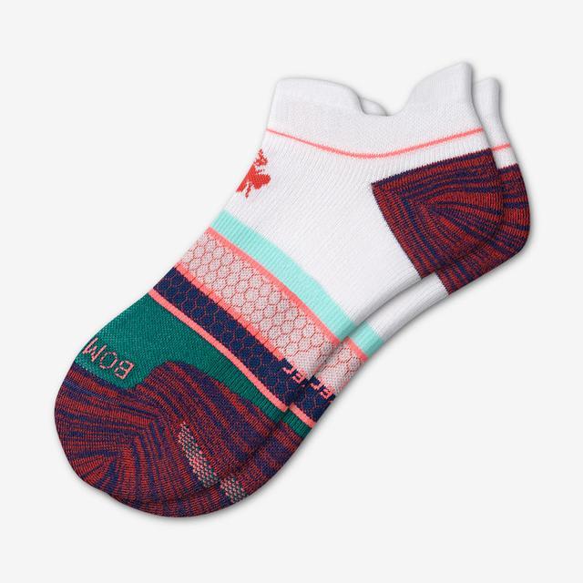 white-indigo Men's Performance Running Ankle Socks
