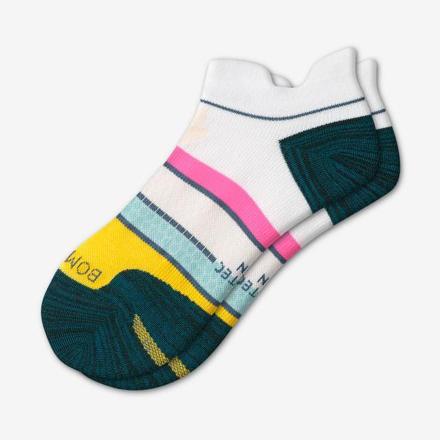 white-seafoam Women's Performance Running Ankle Socks