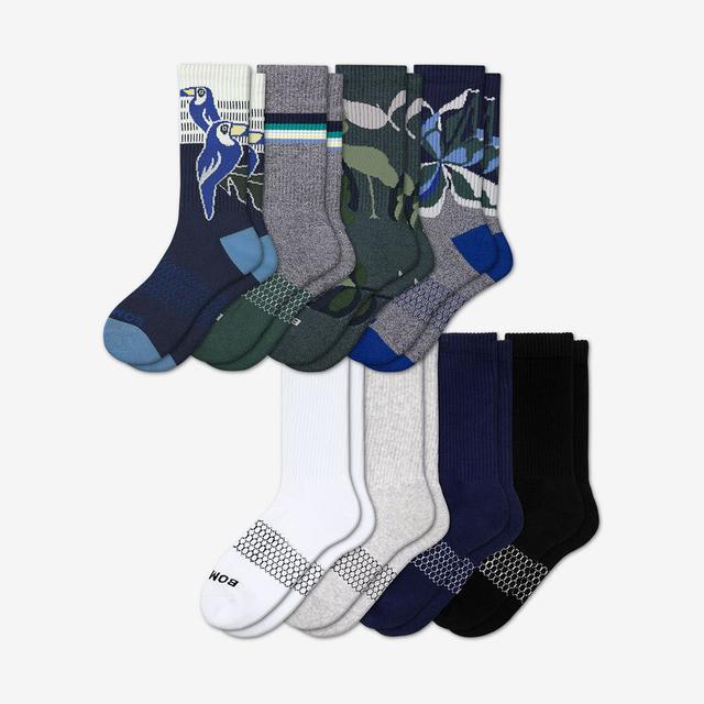 wild-wear Men's Calf Sock 8-Pack