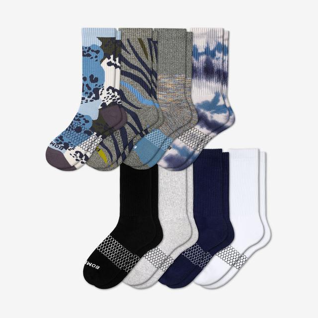 wild-wear-mix Men's Calf Sock 8-Pack