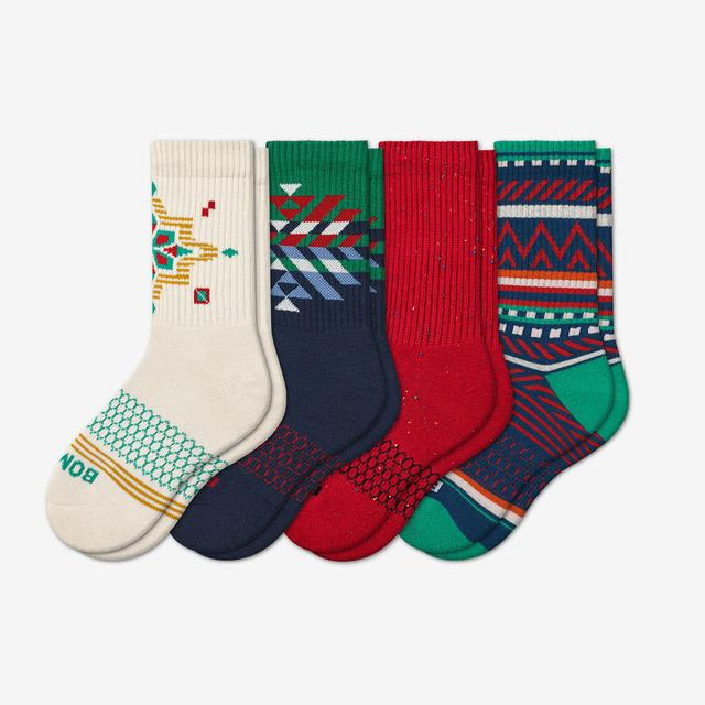 winter-mix-4 Youth Holiday Calf Sock 4-Pack