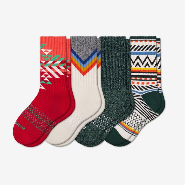 winter-mix Youth Holiday Calf Sock 4-Pack