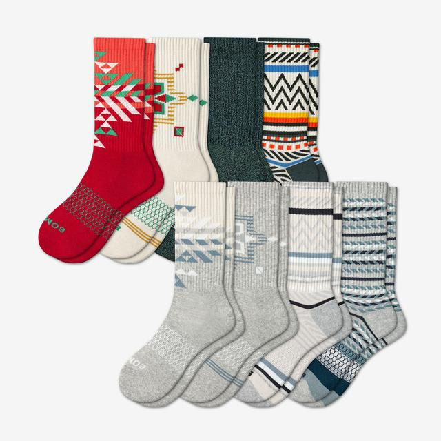 winter-mix Women's Holiday Calf Sock 8-Pack