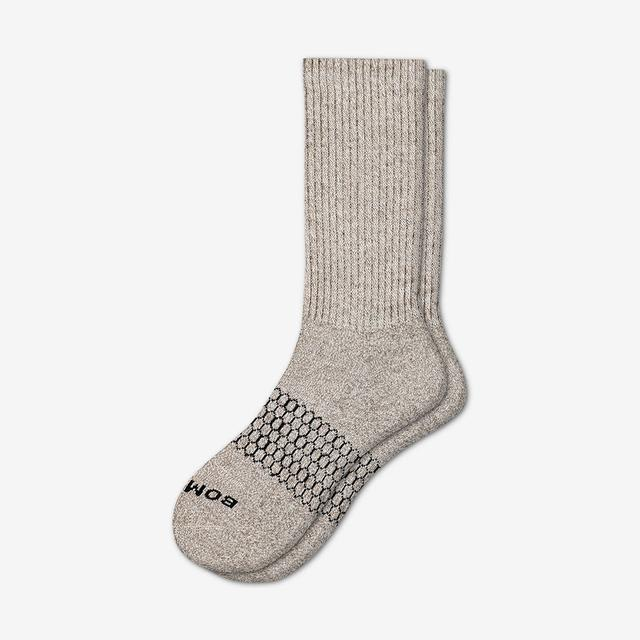 winter-white-mocha Men's Classic Marls Calf Sock