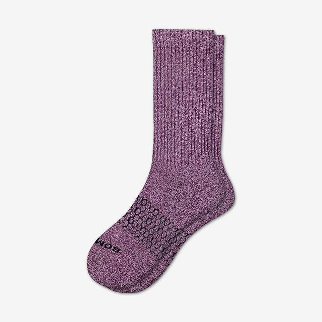winter-wine-violet Men's Classic Marls Calf Sock