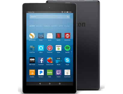 "Fire HD 8 Tablet with Alexa, 8"" HD Display, 16 GB, Black - with Special Offers (Previous Genera"