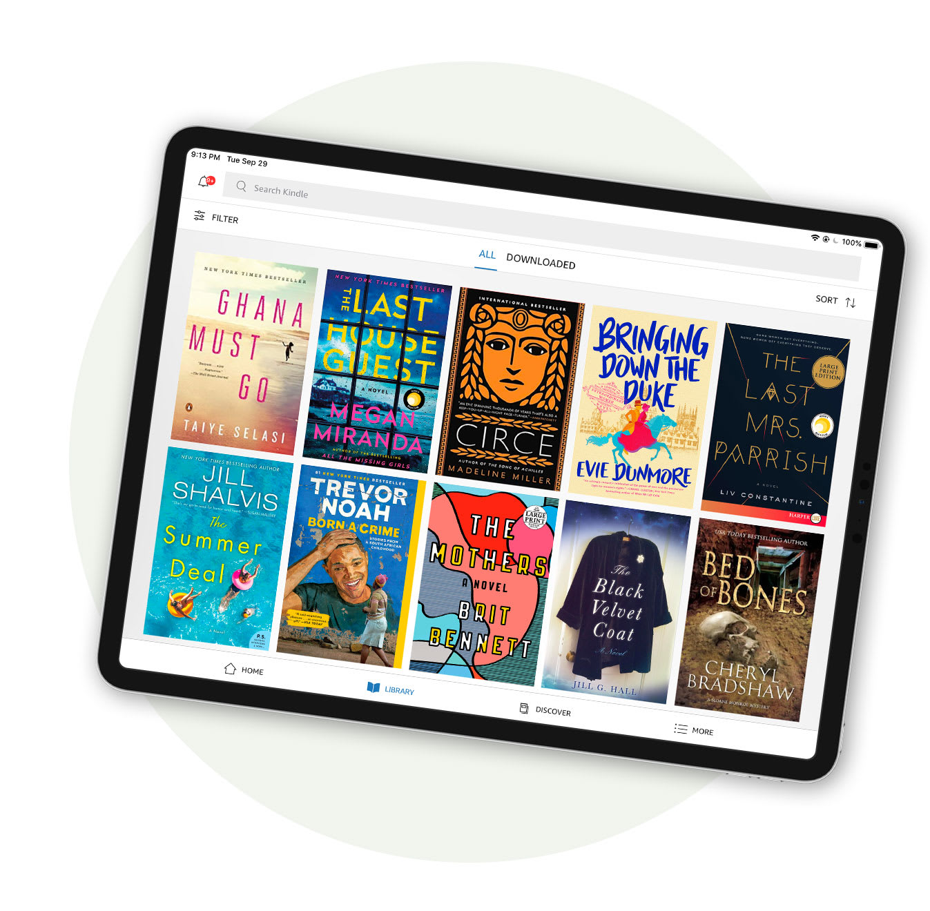 Books on an ipad