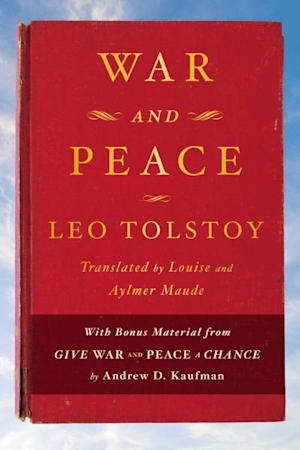 Book cover for War and Peace by Leo Tolstoy